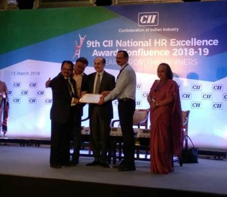 SAIL receiving CII HR Excellence Award for strong commitment to HR excellence