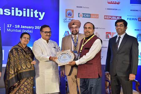 SAIL, Rourkela Steel Plant bags the coveted Golden Peacock Award 2018 for the effectiveness of its Corporate Social Responsibility initiatives